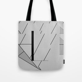 Grey Triangles Pattern Tote Bag