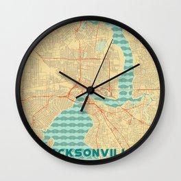 Jacksonville Map Retro Wall Clock
