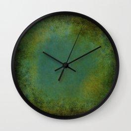 Shades of Green Texture Wall Clock