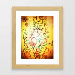 Heart Dance - Original Print  Framed Art Print