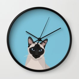 The Regal Siamese Cat Wall Clock