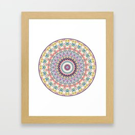 Bloom Mandala Framed Art Print