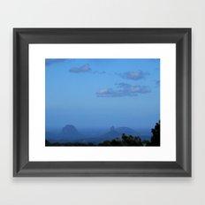 Glasshous mountains  Framed Art Print