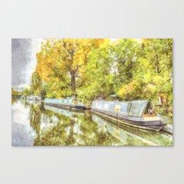 Little Venice London Autumn Art Canvas Print