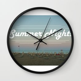 Summer Nights Wall Clock