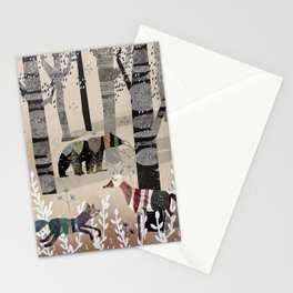 Forest in Sweater Stationery Cards