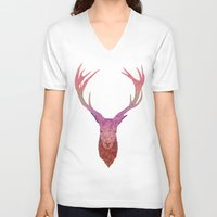 stag V-neck T-shirts featuring Stag by Toniq