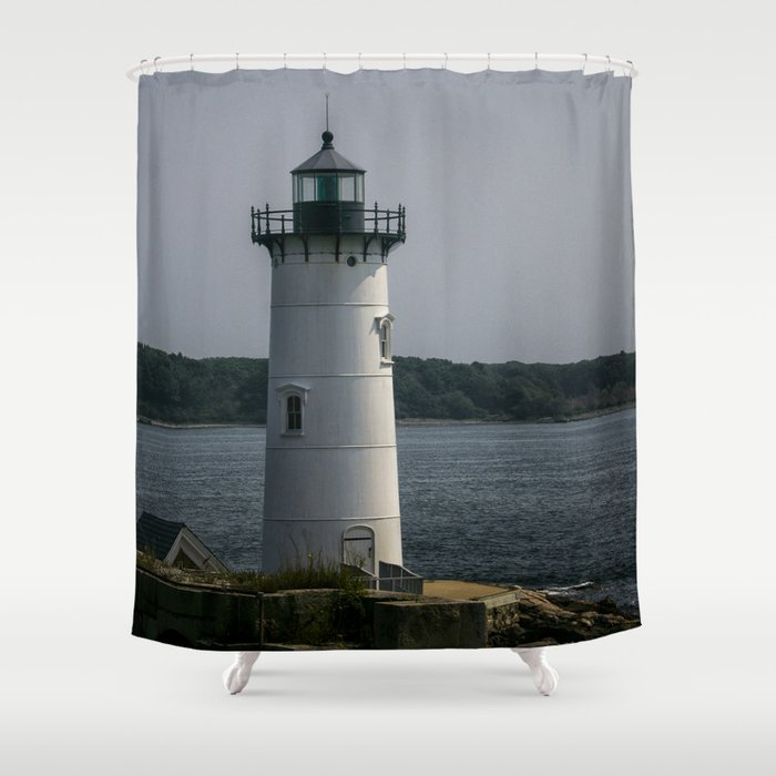 Portsmouth Harbor Lighthouse Shower Curtain by rogerwedegis | Society6