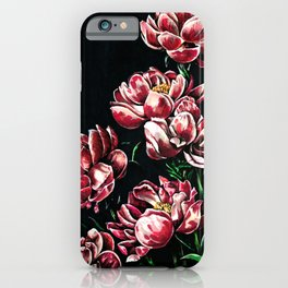 Peonies markers drawing iPhone Case