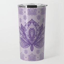 Gentle Pastel Purple  Lotus Flower Travel Mug