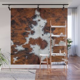 Cow skin pattern, brown spotted fur Wall Mural