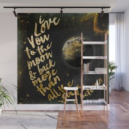 Moon and Back Wall Mural