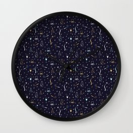New Years Traditions Wall Clock