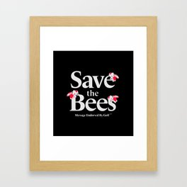 SAVE THE BEES - GOLF WANG Framed Art Print