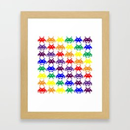 Rainbow Invasion Framed Art Print