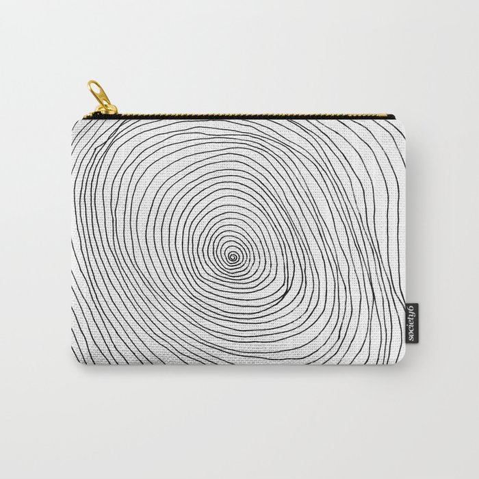 Spiral Rings Carry-All Pouch