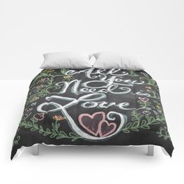 All You Need is Love Chalkboard Art Comforters