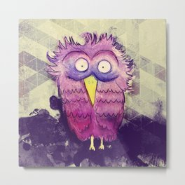 An Owl with wide Eyes Metal Print