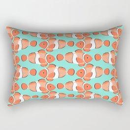 Clown fish - Mandarin Garnet Rectangular Pillow