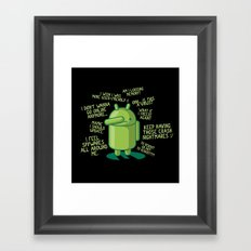PARANOID ANDROID Framed Art Print