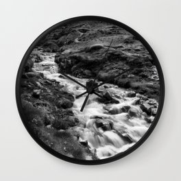 The Stream, Cot Valley, Cornwall, England, United Kingdom Wall Clock