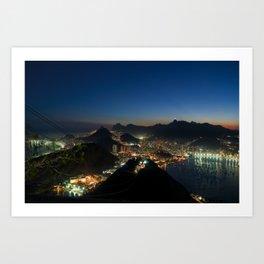 Rio de janeiro by night Art Print