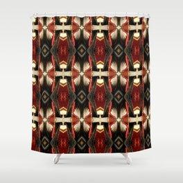 Rich Burgundy Striped Pattern A448b Shower Curtain