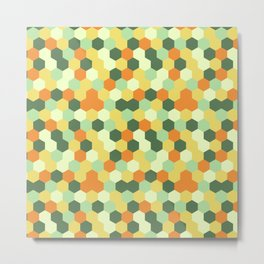Hexagonal geometric pattern Metal Print