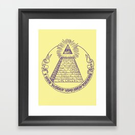 I see what you did there Framed Art Print