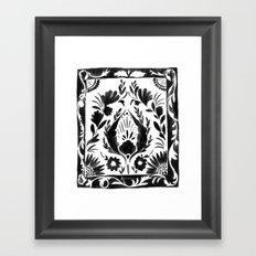 Nadia Flower - Black Framed Art Print