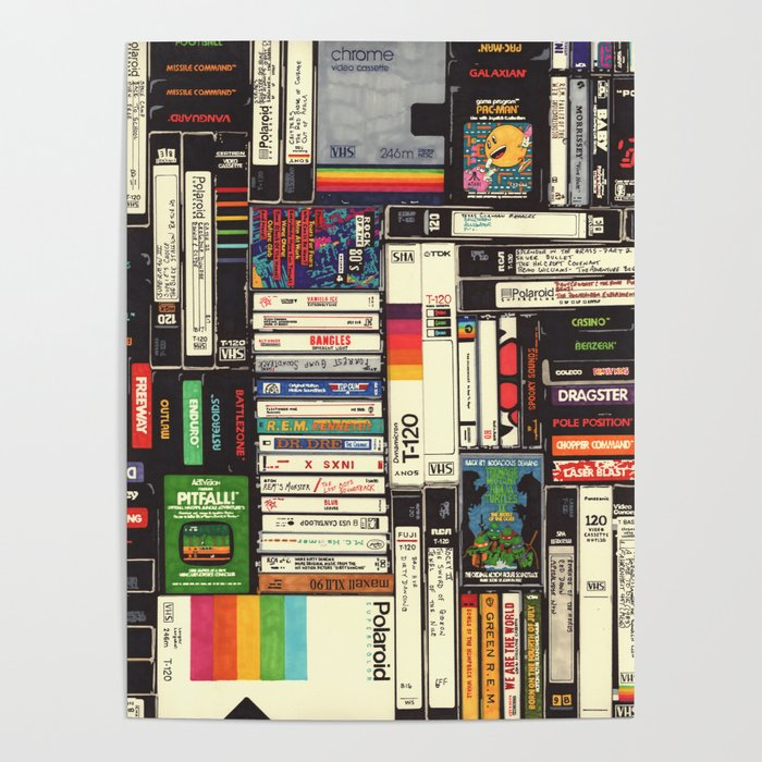 Cassettes, VHS & Games Poster