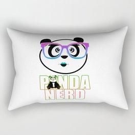 Panda Nerd Girl - Rainbow Rectangular Pillow