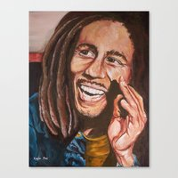 marley Canvas Prints featuring Marley by Kayla May