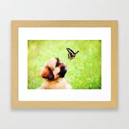 Watching Butterflies Framed Art Print