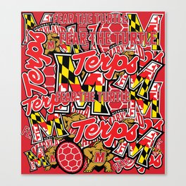 UMD Terps Collage Canvas Print