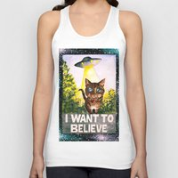 i want to believe Tank Tops featuring I Want To Believe by Ariana Victoria Rose