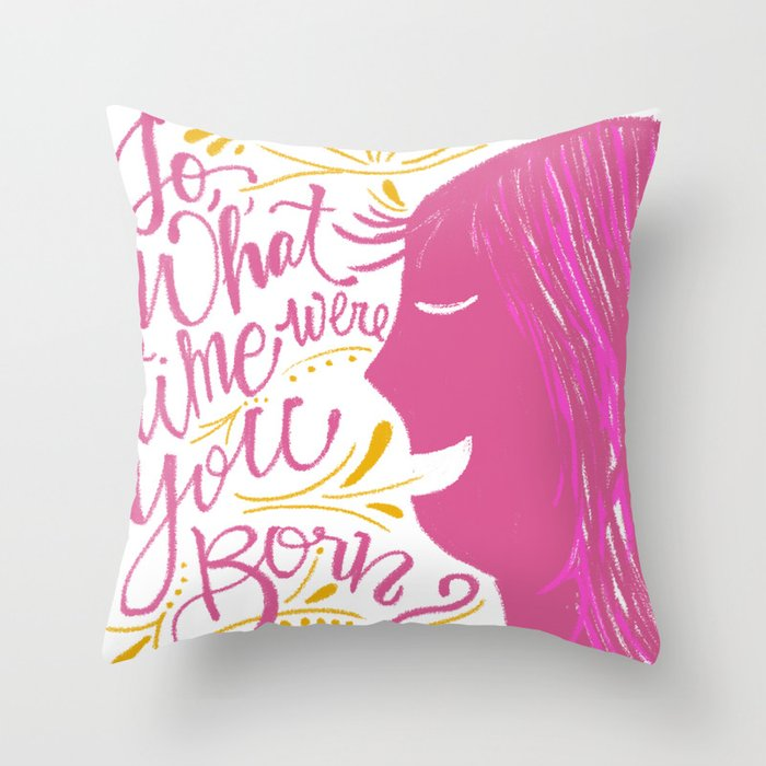 The birth chart Throw Pillow