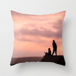 Dibujando el horizonte Throw Pillow