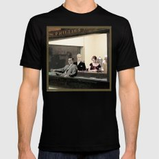 mad men characters are Hopper's Nighthawks Mens Fitted Tee Black 2X-LARGE