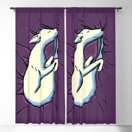 Sleeping Iggy Dog - Italian Greyhound - Whippet - Purple Blackout Curtain