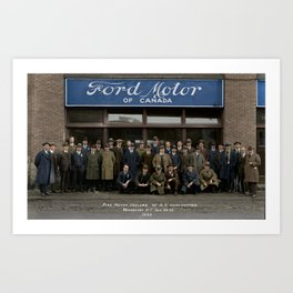 Ford Motor Dealers of B.C. Convention.  Vancouver, B.C. Jan 1923 Art Print