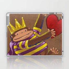 Mardi Gras Valentine Ape King Laptop & iPad Skin