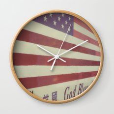 Flag Wall Clock