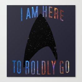 Boldly Go Canvas Print