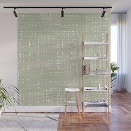 Green straw background Wall Mural