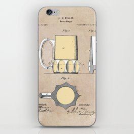 patent Beer Mugs iPhone Skin