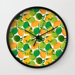Lemons and Limes Wall Clock