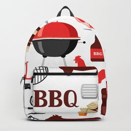 Grilling Season 4th Of July Texas BBQ Print Backpack