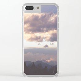 Rocky Mountain Lavendar Clear iPhone Case