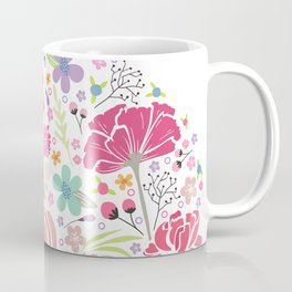 Art Skull Flower Coffee Mug